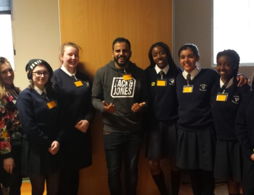 Students with Ibrahim Halawa- Amnesty School's Day