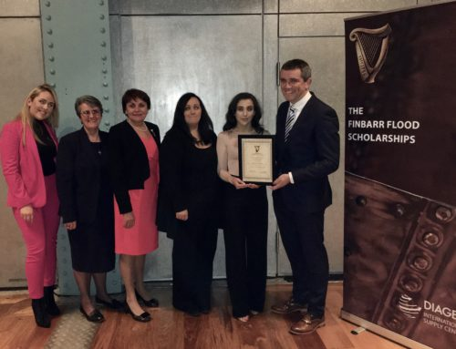 The 2017 Finbarr Flood Scholarship – Diageo.